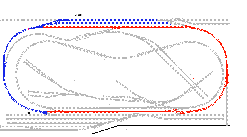 Track Map Russell I/C to Nolan Yard